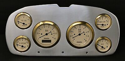 1957 Plymouth Car Gauge Cluster Gold