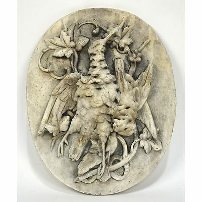 Exceptional Continental Louis XIII Hunt style Bird Relief Plaster Placque