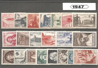 Francia France año completo 1947 Annee year complete