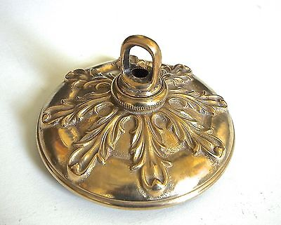 Large French Style Vintage Brass Chandelier Parts Ceiling Cap Canopy