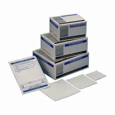 Steropad Low Adherent Wound Dressing Pad First Aid Cuts Burns Sterile Abrasions