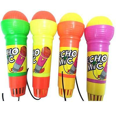 Hot E-cho Mic Kids Toy Pretend Play Sound Plastic Vibrate Baby Kid's Microphone