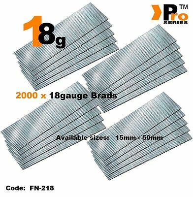 18Gauge Second Fix Nails 2000 Brads    08