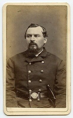 Nice Civil War Era Charlestown, Massachusetts Policeman CDV (Carte de Visite)