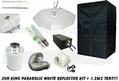 Sun King Grow Room Parabolic Complete Tent 1.2m Kit Fan Carbon Filter Lumii