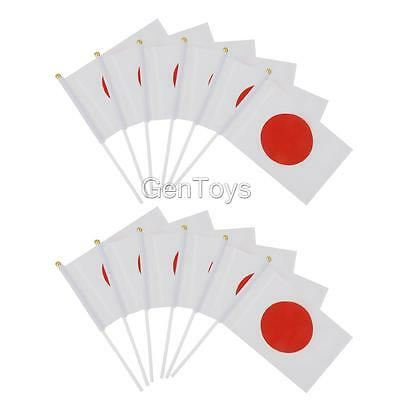 12pcs Small Hand Waving Japan Country Flags Pride Festival