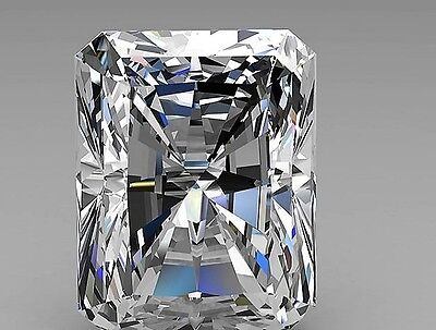 2.6ct Crystal Carbon Labs RECTANGLE RADIANT Synthetic Stone.Replaces Diamond
