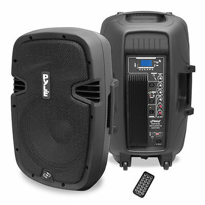 """NEW Pyle PPHP1237UB 12"""" 900W Powered Two-Way Speaker MP3/USB/SD/ Bluetooth Music"""