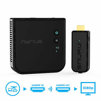 Nyrius Wireless Video HDMI Transmitter & Receiver for Streaming 1080p HD 3D TV