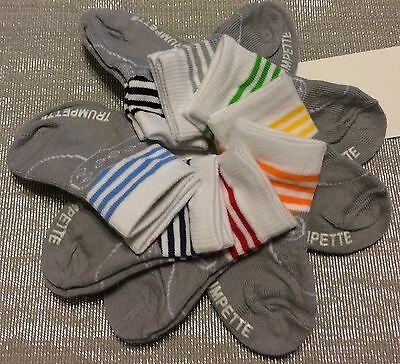Trumpette Baby Boy Socks 8 Pair Size 0-12 Months Grey & Assorted Colors NIB