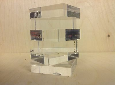 Acrylic Stamping Blocks, 15mm Thick Set Of 6 4.5 X 5.5cm,fantastic Quality,new,