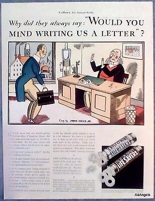 1933 Life Savers Hard Candy Salesman President Factory Write Us A Letter Held ad