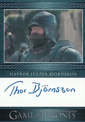 Game Of Thrones Season 5 - Hafpor Julius Bjornsson (Clegane) Autograph Card L