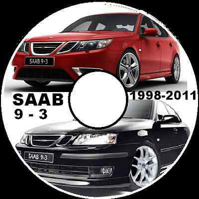SAAB 9-3 1998-TO-2011 ALL MODELS 64 bit WORKSHOP REPAIR SERVICE MANUAL SYSTEM CD