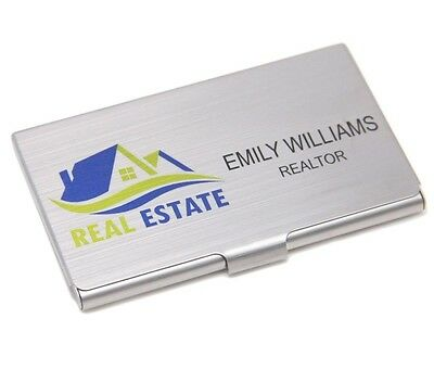 Personalized Full Color Stainless Steel Business Card Holder