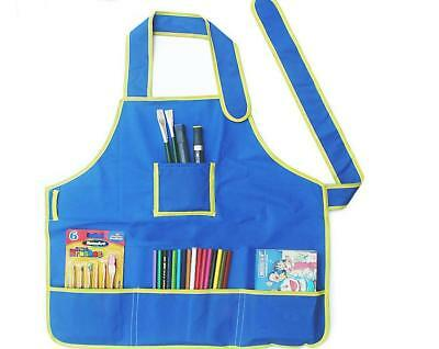 Children's PVC Art Craft Apron Smock for DIY Paint Draw Playing Kid Toy Gift