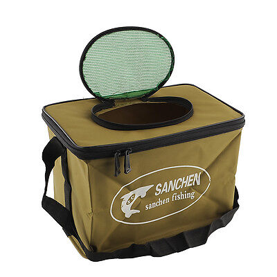 WaterProof Foldable Portable Fish Bucket Water Pail for Fishing Outdoors S Size