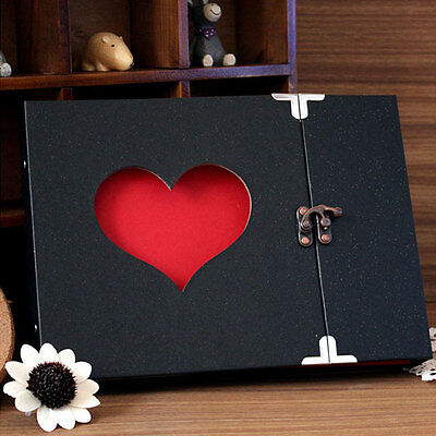 Hollowed Heart Love Shape Photo Album Scrapbook DIY Memory Anniversary
