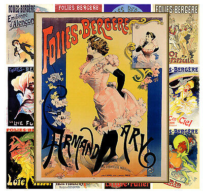 """Mini Posters Moulin Rouge Vintage Showgirl Poster MP524 13 pages 8/""""x11/""""//A4"""