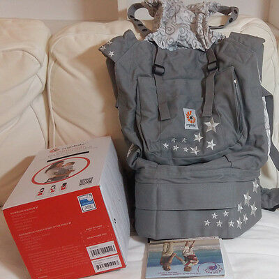 Ergo- nomic Baby Carrier Galaxy Grey 3 Positions