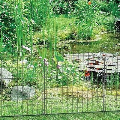 Pond Fence Element Metal Grid Fence-matt Ornamental Plug