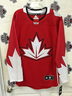 Team Canada XL 2016 World Cup Of Hockey home red jersey Adidas