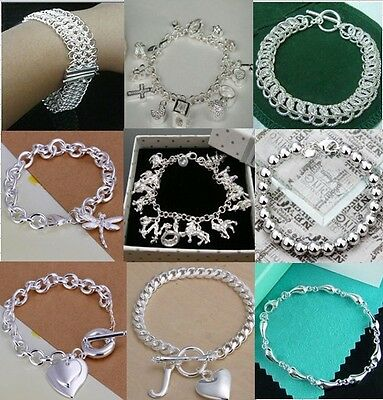 WHOLESALE HIGH QUALITY 925STERLING SOLID SILVER Chain Bangle/Bracelet Jewellery
