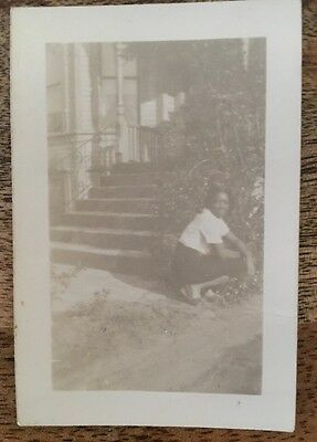 Vintage African American Lady Pretty Pose Real Photo Black Americana