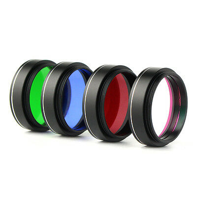 "1.25"" Optical color Filter Telescope Accessories Green/Red/Blue/UV IR Filter Set"
