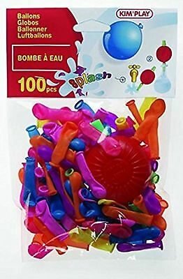 Kim'Play - 242 - Farces et Attrapes - 100 Ballons Bombe à Eau + Pompe - Assortis