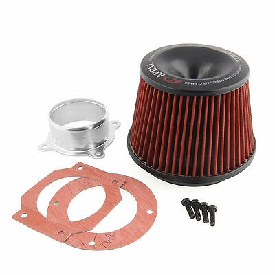 1x Apexi Universal Car Vehicle Intake Air Filter 75mm Dual Funnel Adapter Useful