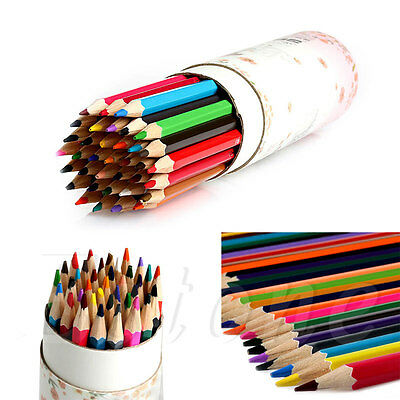 12/18/24/36 Artist Fine Colored Wooden Drawing Pencils Writing Sketching