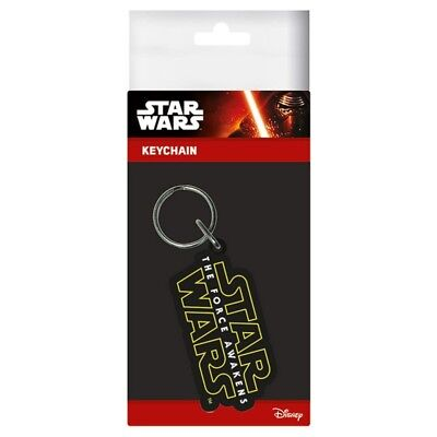 Star Wars VII The Force Awakens Logo Rubber Keychain