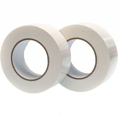 White Strong Duck-Duct Gaffer Gaffa Cloth Waterproof Tape Rolls 48Mm X 50M
