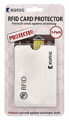 Konig RFID Card Protector - Protects from Electronic Theft, Contactless Skimming