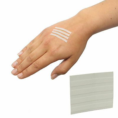25 Packs of 8 Instant Injury Adhesive White Wound Closure Strips Sutures 4x38mm