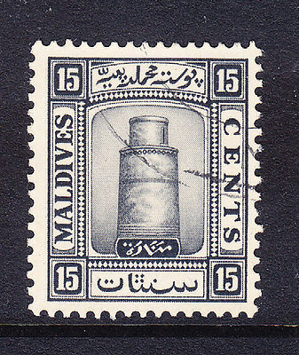 MALDIVE IS 1933 SG17A 15C black watermark upright - fine used. Catalogue £28