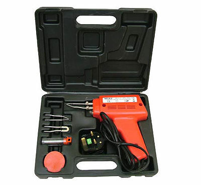 100 Watt Electric Soldering Gun Iron Kit + 3 Tips + Case 100W Solder Set 240V
