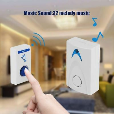 LED Wireless Chime Door Bell Doorbell & Wireles Remote control 32 Tune Songs IG