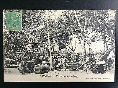 CP carte postale Indo Chine Haiphong Marché du Luch Tray
