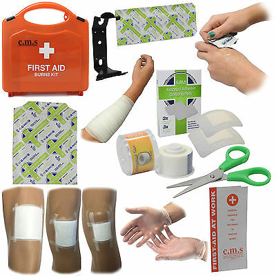 CMS Medical Essential Home Kitchen Catering Travel Burns Injury First Aid Kit