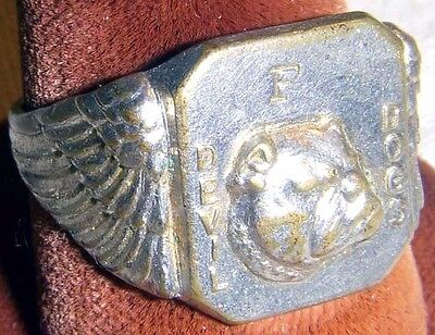 Circa 1935 USMC Devil Dogs WWI Aviation Movie Premium Ring from Quaker Oats