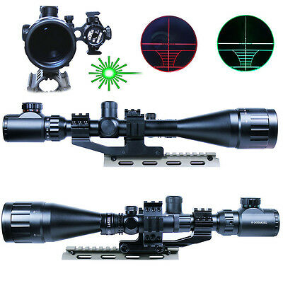 Hunting 6-24X50 AOEG Rifle Scope Dual illuminated Reticle with Green Laser Sight