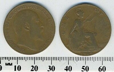 GREAT BRITAIN 1909 - 1 Penny  Large Coin - King Edward VII - #2