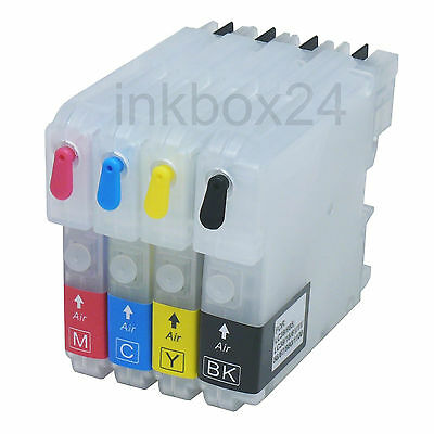 Refill Set CISS + Tinte für Brother LC 980 1100 LC-980 LC-1100 kein OEM