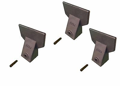 3 - Hensley Style Backhoe / Mini Excavator Bucket Flare Teeth w Pins - X156F