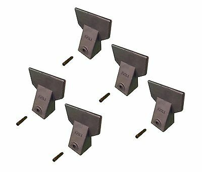 5 - Hensley Style Backhoe / Mini Excavator Bucket Flare Teeth w Pins - X156F