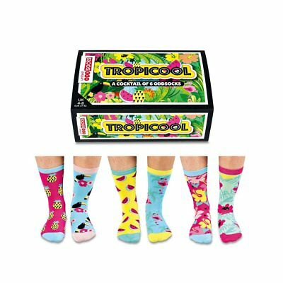 Odd Socks Tropicool Ladies Gift Box Size 4-8 - Gifts For Her Stocking Filler