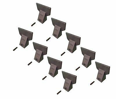 9 - Hensley Style Backhoe / Mini Excavator Bucket Flare Teeth w Pins - X156F