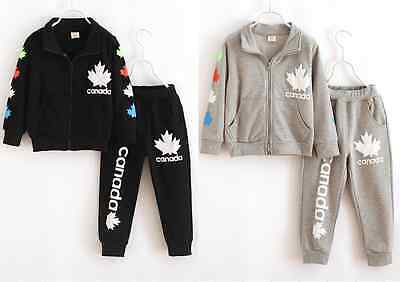 HOT 2pcs kids baby boys Girls tops + pants Outfits & set Tracksuits clothing
